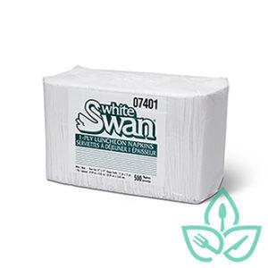 White swan white napkins