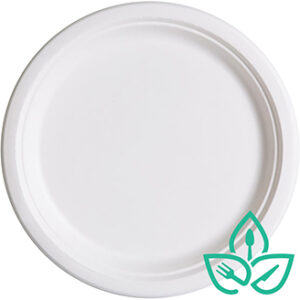 10inch round compostable sugarcane plates