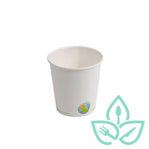 10oz white compostable hot cups