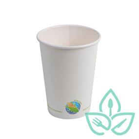 Hot Cups – Compostable White – 16oz