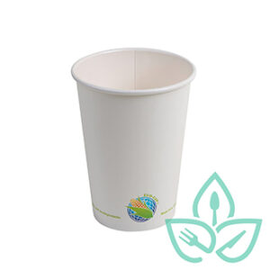 16oz white compostable hot cups
