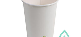 Insulated Hot Cups – Compostable White – 16oz
