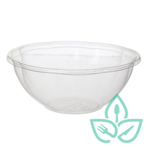 24oz Salad Bowl compostable plastic clear