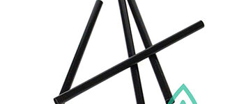 Compostable Black Cocktail Straws – 4.5 inch
