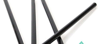 Compostable Black Straws – 6 inch