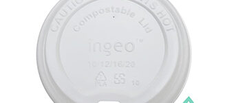 Compostable White Hot Cup Lids – 10-20oz