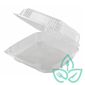 Hinged Clear Clamshell – 8″ x 8″ x 3″ – Case of 250