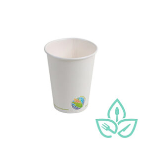Hot Cups – Compostable White – 12oz