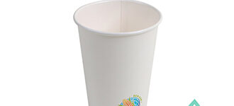Insulated Hot Cups – Compostable White – 12oz