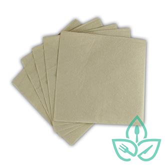 Recyclable brown paper napkins