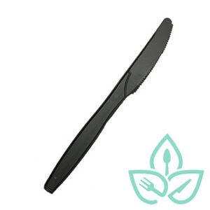 Black compostable plastic knive