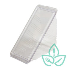 Compostable Hinged Clear Sandwich Wedge