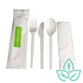 Compostable Cutlery Kit – 4pc