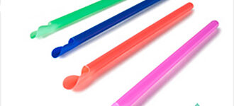 Compostable Wrapped Spoons Straws (Assorted Colors) – 10 inch
