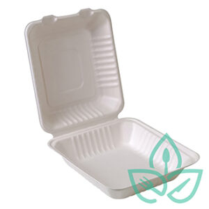 Compostable rectangular take-out containers
