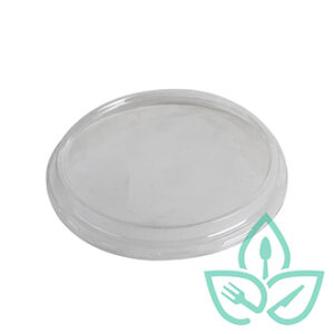 Compostable Clear plastic lid for dome deli conatiner