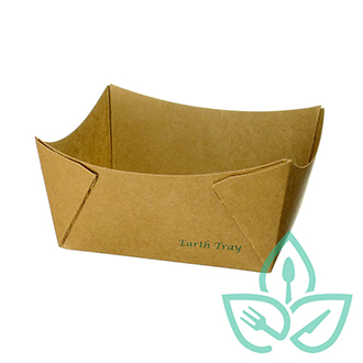 Recyclable Paper Food Tray Large rectangular
