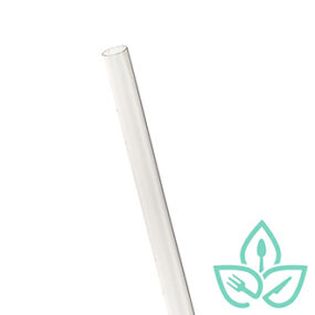 Compostable Jumbo Clear Straws – 7.75 inch