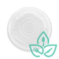 Compostable Lid for 6,8,10 oz Soup / Ice Cream Containers