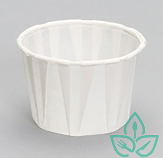 white paper recyclable portion cup