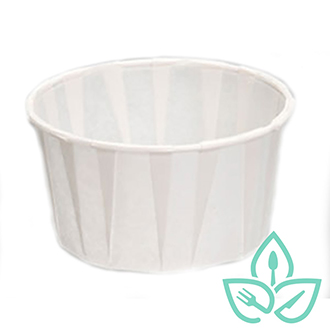 white recyclable paper portion cups