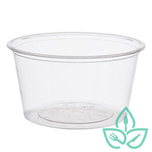 compostable clear plastic portion cups