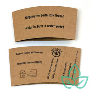 Paper Coffee Sleeves for compostable hot cups