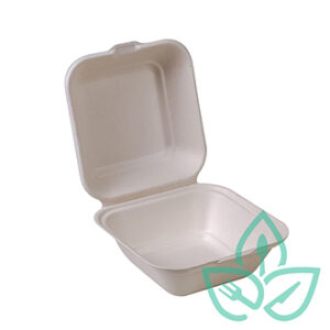 small compostable clamshell takeout container