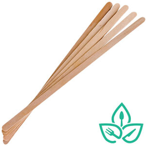 wooden recyclable stir sticks