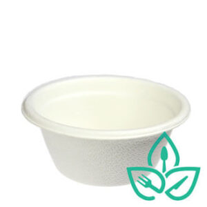 compostable pulp white bowl perfect for catering and food trucks