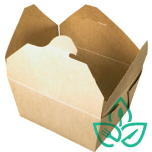 Brown Kraft Take Out Food Container non compostable, recyclable