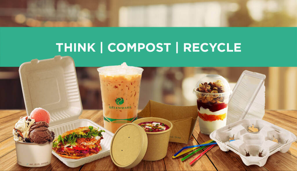 Featured banner of various packaging products and Good Earth Packaging Slogan