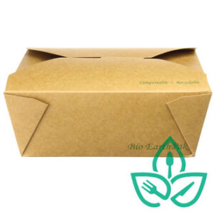 uncoated kraft take out food container rectangular