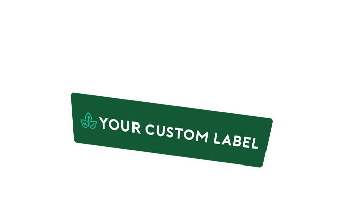 Custom label for green packaging -rectangle